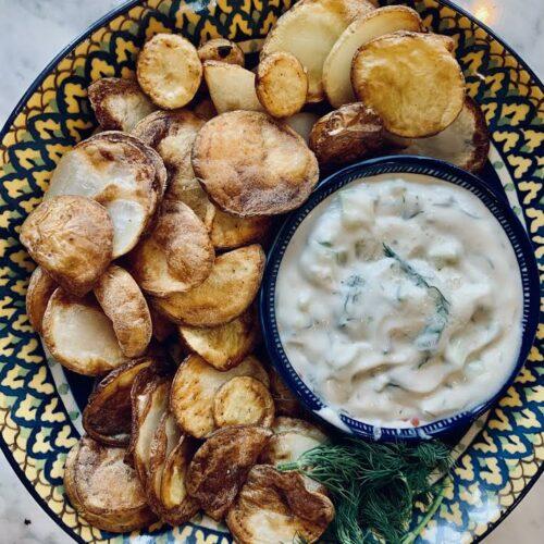 Chips and Tzatziki Dip