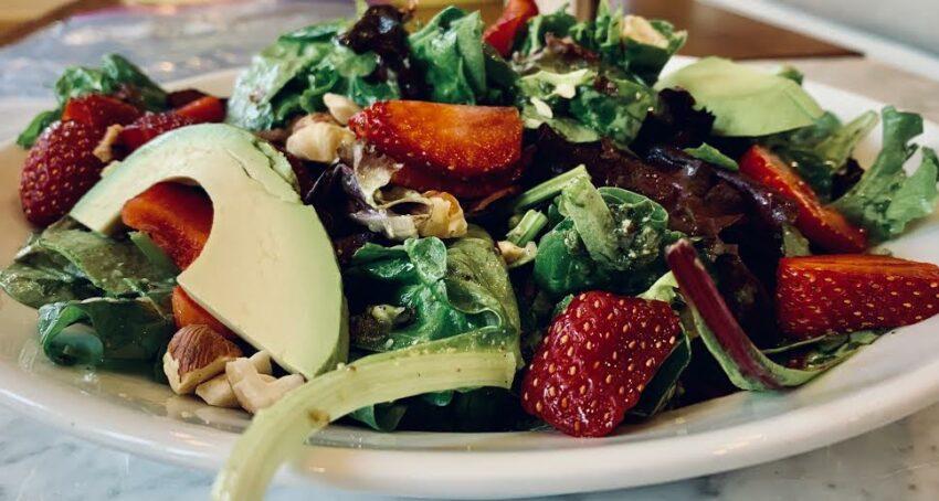 Strawberry Hazelnut Mint Basil Salad