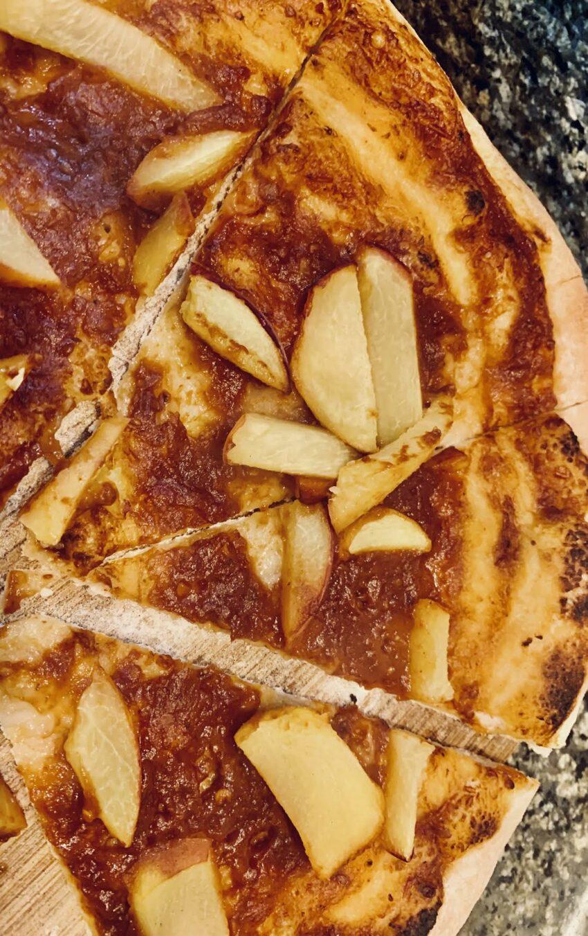 Peach BBQ Pizza