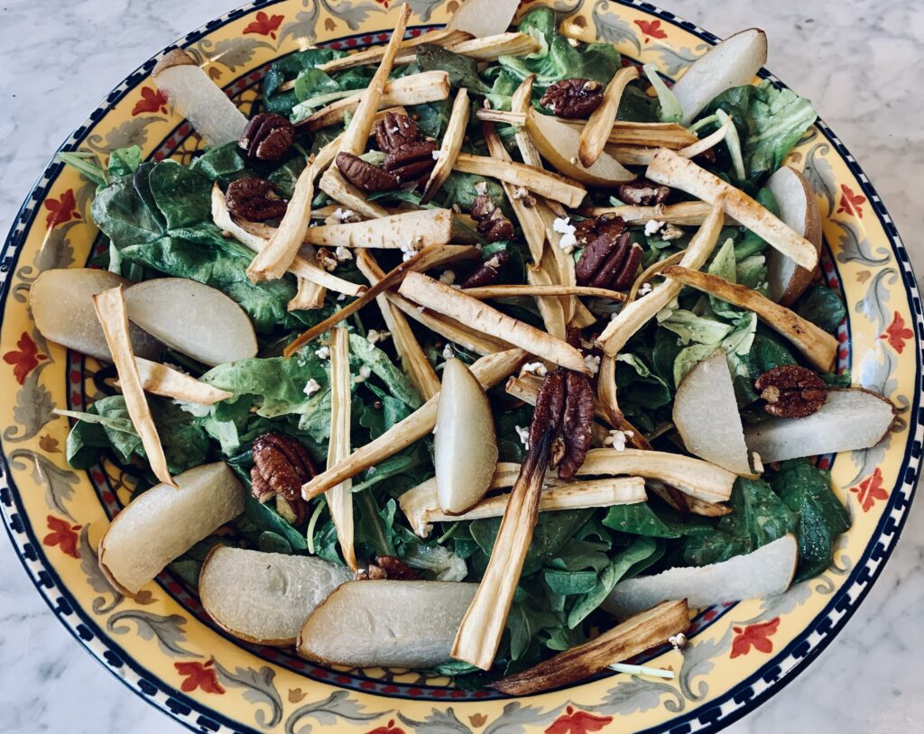 Asian pear parsnip salad