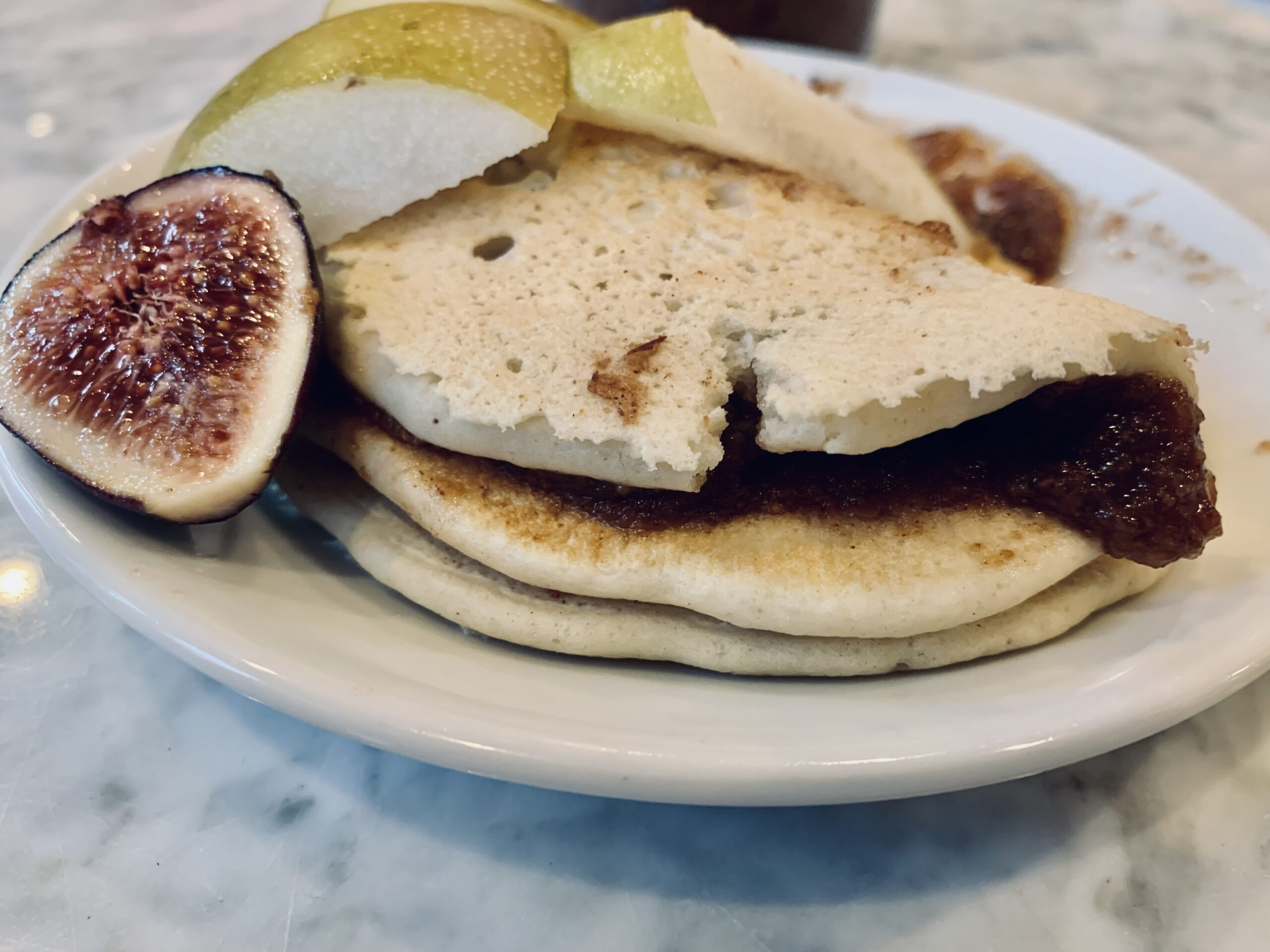 Spiced Pear Butter and Oatmilk Pancakes